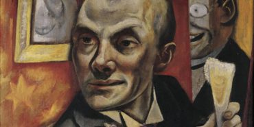 Max Beckmann - Self-portrait with Champagne, 1919 (Detail) - Private collection, courtesy W. Wittrock, Berlin