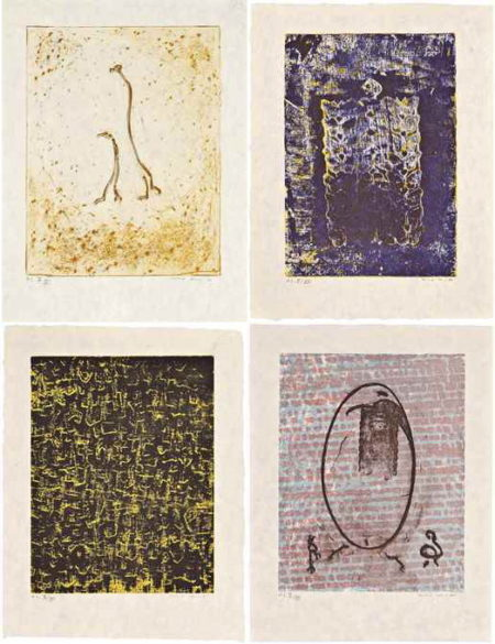 Four plates, from Aux Petits Agneaux-1971