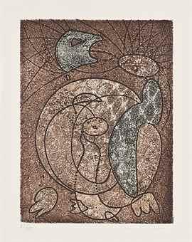 Max Ernst-Les Energumenes, Three Etchings and Aquatints-1965