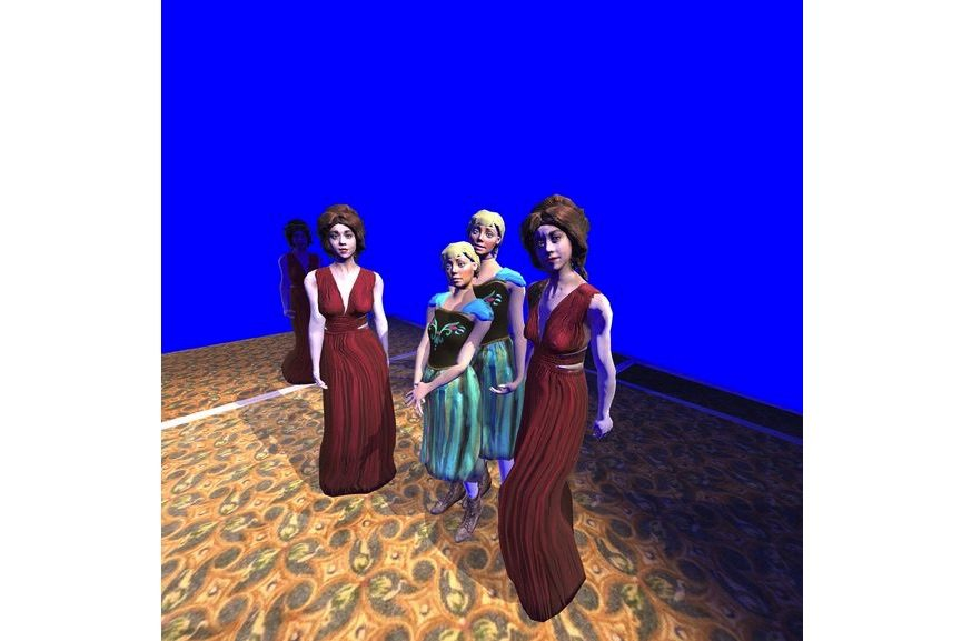 Paul McCarthy C.S.S.C. Coach Stage Stage Coach VR Experiment Mary and Eve 2017