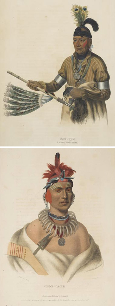 McKenney & Hall-Selected Plates from The History of the Indian Tribes of North American-1844