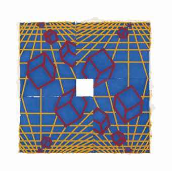 Mel Bochner-Untitled (R.Y.B.)-1996