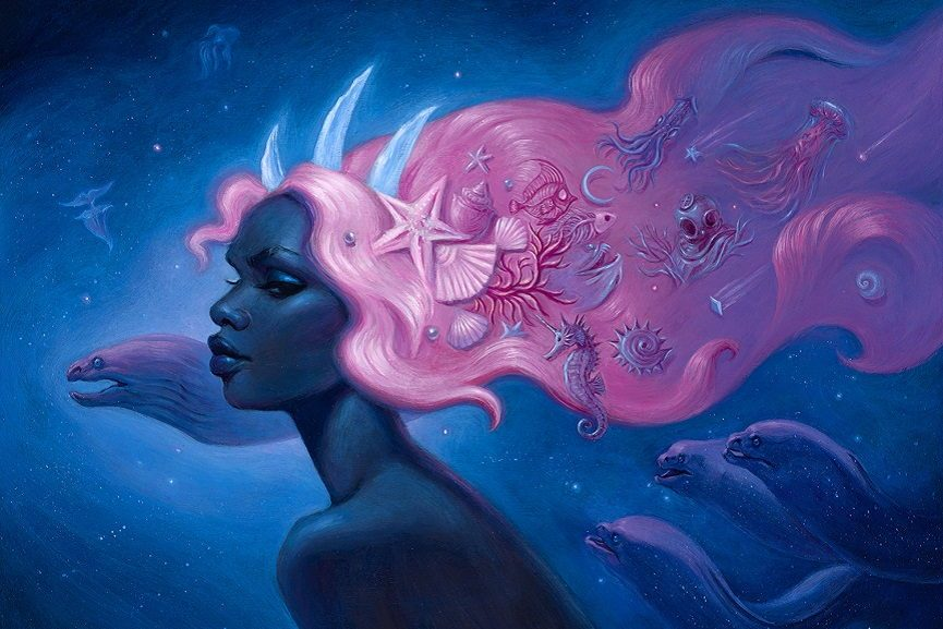 Mia Araujo -Cosmic Mermaid, detail