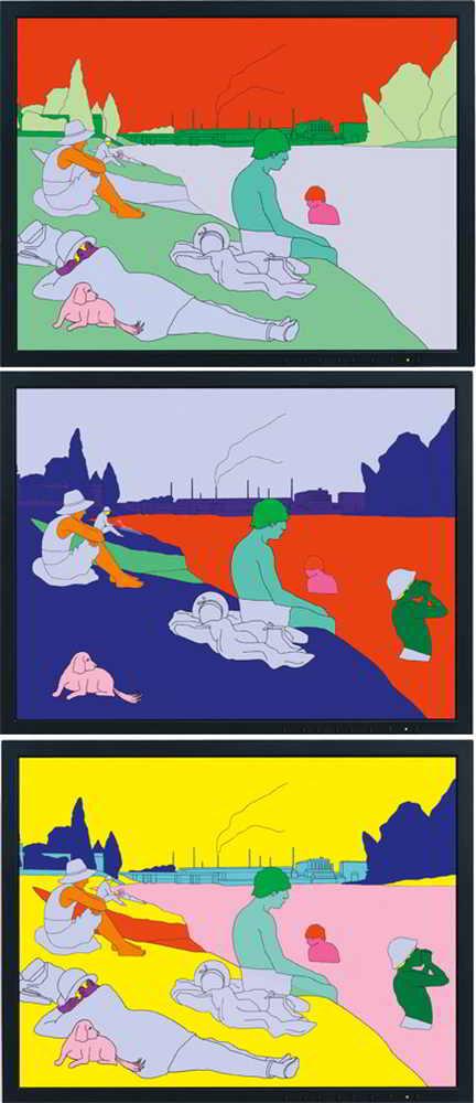 Michael Craig-Martin-Deconstructing Seurat-2005