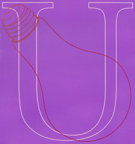Michael Craig-Martin-U, from Alphabet-2007