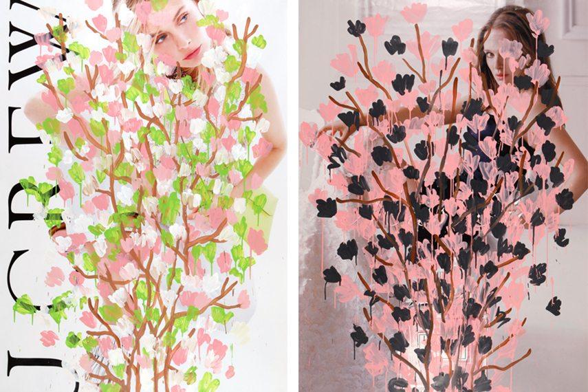 Michael De Feo - Outside, 2015 (Left) / Outside II, 2015 (Right)