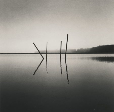Michael Kenna-Selected Landscapes (Charles Bridge Study 4 Prague Czechoslovakia; Poles Salt Ponds Moss Landing California; Eilean Donan Castle Loch Duich Scotland; La Poele Vaux-le-Vicomte France; and Reflection Study 2 Vaux-le-Vicomte France)-1996