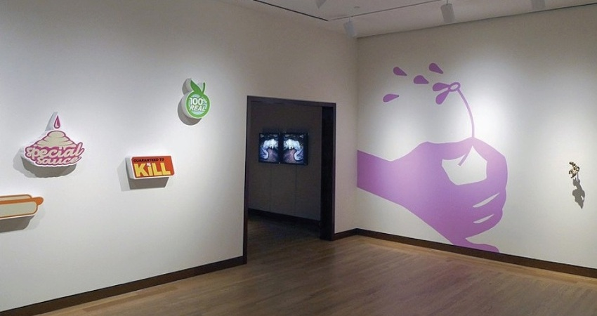 Michael Salter - Visual Plastic, 2012, installation view at New Britain Museum Of American, New Britain, CT