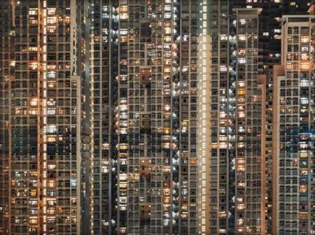 Michael Wolf-Architecture of Density, Night #16-2005