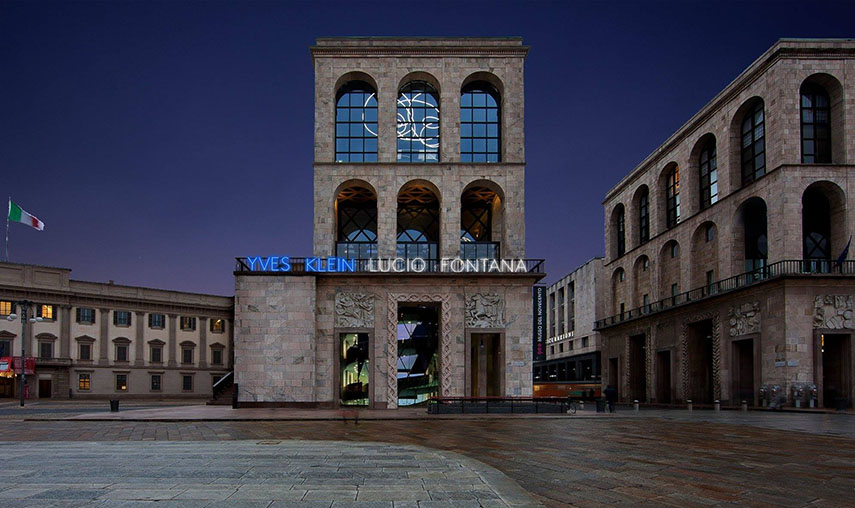 Milan's Museo del Novecento, home to Italian art of the 20th century. Image via gdapress.it