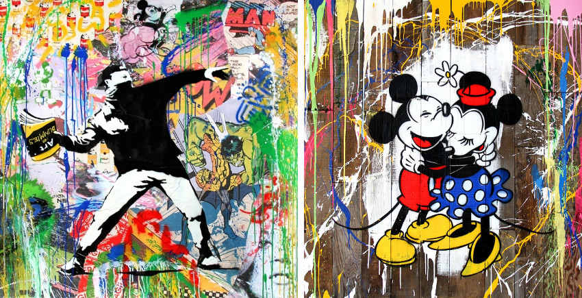 Mr. Brainwash - Banksy Thrower, 2015 - Mickey & Minnie, 2016, beautiful, french, home, cookies
