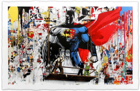 Mr. Brainwash-Batman vs Superman-2016