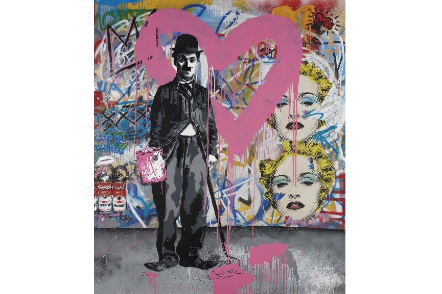 5 mr brainwash art pieces that sold for more than 50k at for Mural by mr brainwash