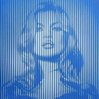 Mr. Brainwash-Fame Kate Moss Blue on Blue-2015