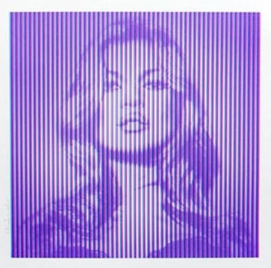 Mr. Brainwash-Fame Kate Moss CYAN MAGENTA-2015