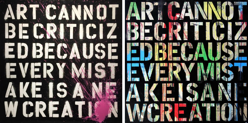 Mr. Brainwash - Keep Creating, 2011 - Keep Creating, 2014, his beautiful french home was in the news english cookies