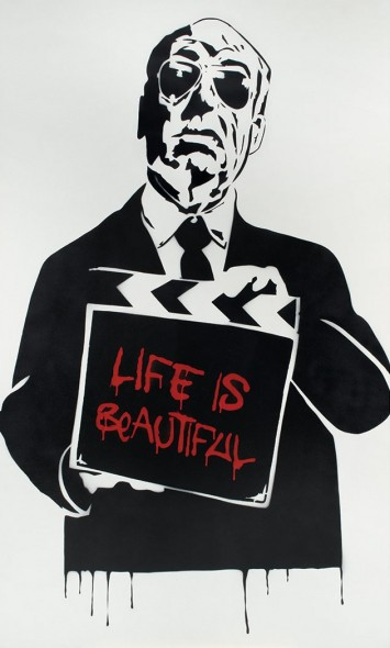 Mr. Brainwash-Life Is Beautiful, Alfred Hitchcock-2008