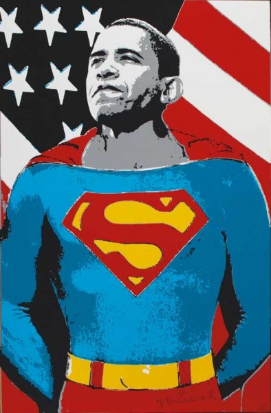 Mr. Brainwash-Obama Superman (Gold Edition)-2008
