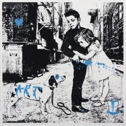 Mr. Brainwash-Pup Art-