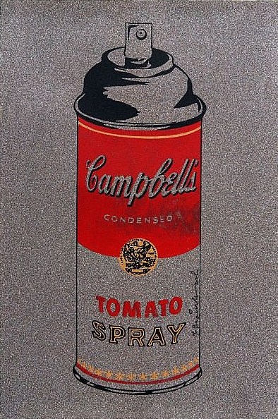 Mr. Brainwash-Silver Campbell's Soup-2011