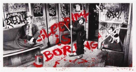 Mr. Brainwash-Sleeping is Boring (Red)-