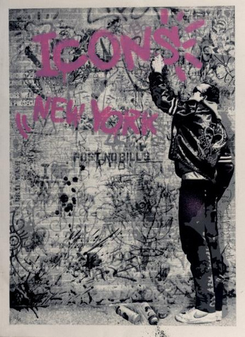 Mr. Brainwash-The Wall (Pink)-2009