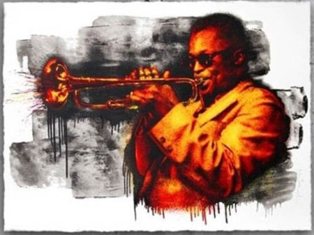 Mr. Brainwash-Miles Davis Red/Yellow-2015