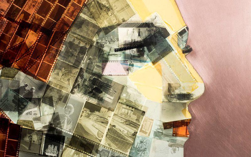 Nick Gentry - Solitude (detail), 2015, negatives life