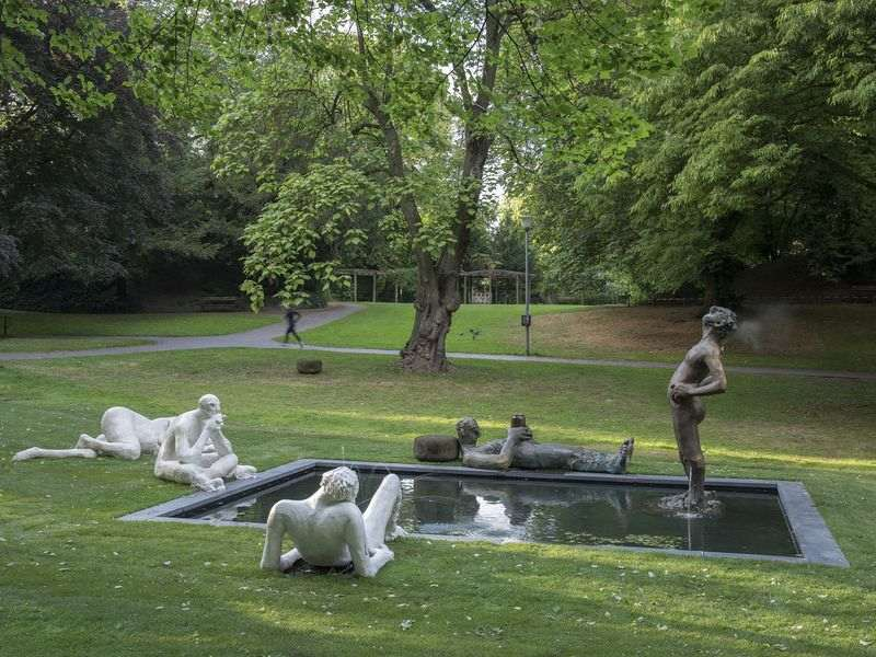 Nicole Eisenman, Sketch for a Fountain. Photo by Henning Rogge