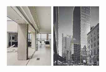 Nicole Wermers-Dekorierte Architektur #7 (Decorated Architecture #7), Dekorierte Architektur #8 (Decorated Architecture #8)-2000