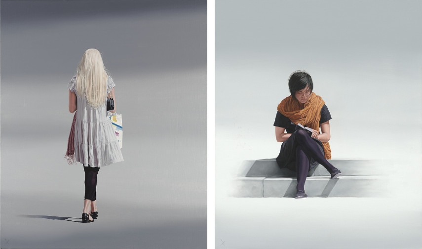Nigel Cox - The Gift, 2015 (Left), Little Black Book (Right)