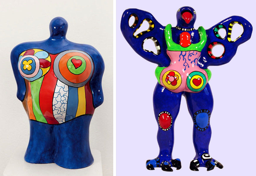 Niki de Saint Phalle paint colorful works without public contact with the world