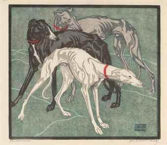 Norbertine von Bresslern-Roth-Windhunde-1925