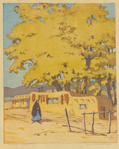 Norma Bassett Hall-October in Santa Fe-1948