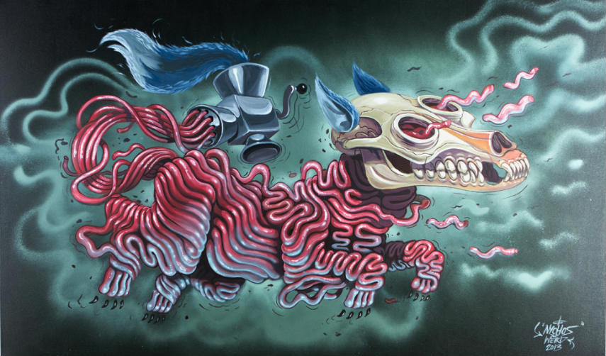 Nychos - Fleischwolf, photo credits nychos.tumbl.com rabbiteyemovement depths deepest cookies youtube 2016 2015 facebook new year like
