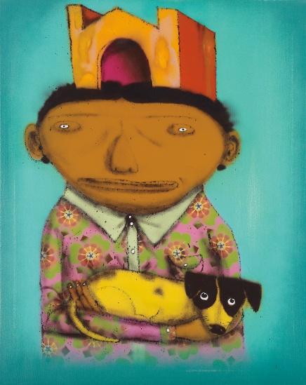 Os Gemeos-Boy with Dog-2012