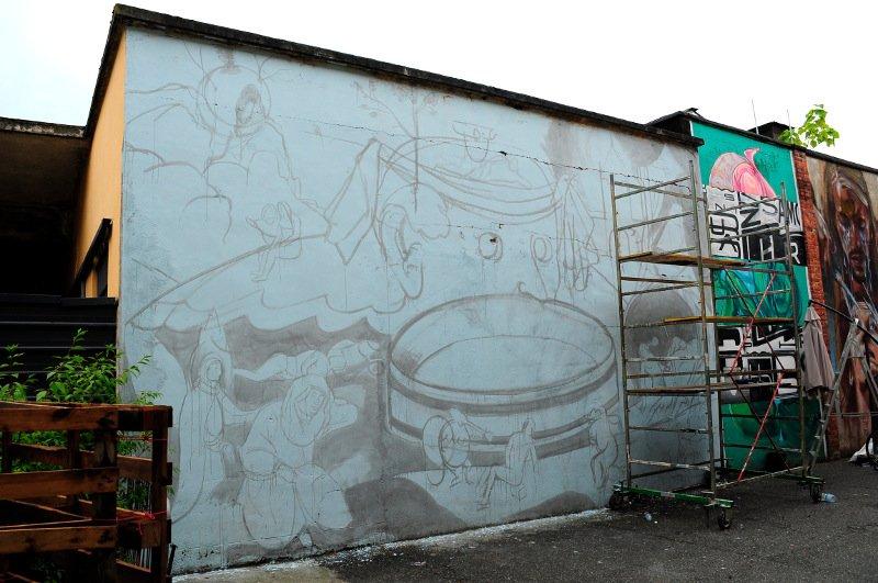 OZMO - Tondal's Vision - Urban Art Field project, Turin - credit Un-Dogma, 2015, street art, mural