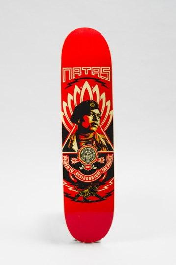 Shepard Fairey-Skateboard Obey Natas-