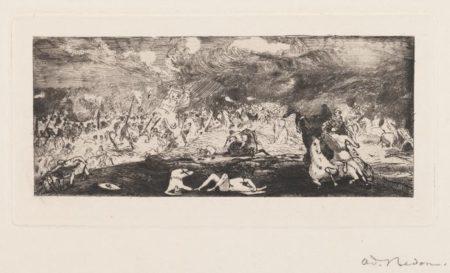 Odilon Redon-Bataille-1865