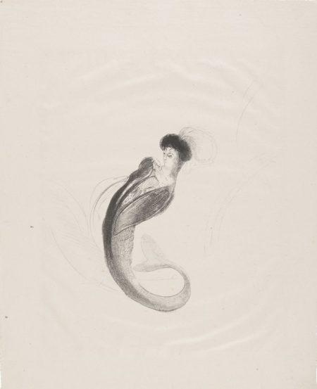 Odilon Redon-Femme Coiffee D'Une Toque Et Rejetant Le Buste En Arriere-1898