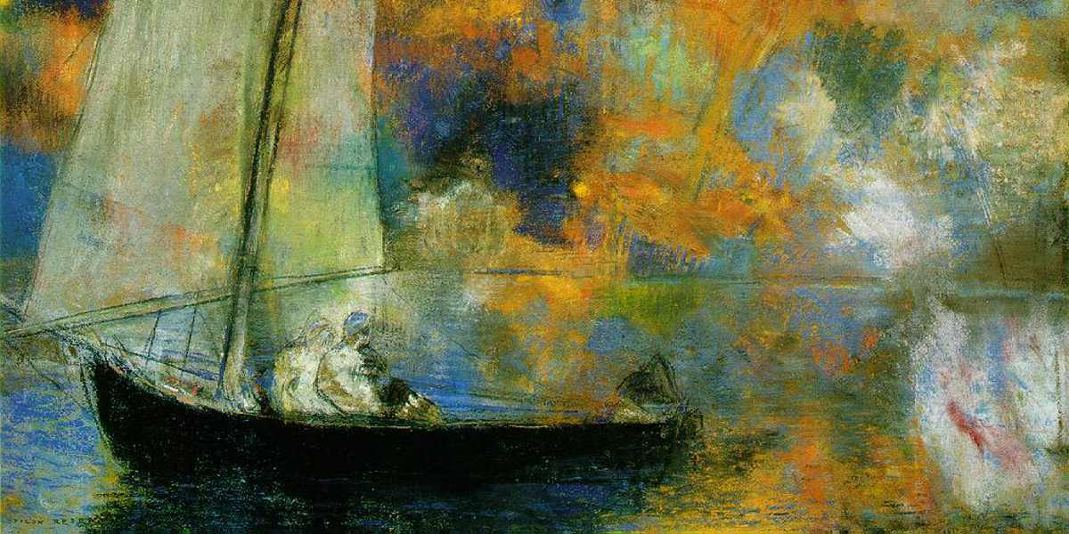 Odilon Redon - Flower Clouds (Detail), 1903 - Copyright The Art Institute of Chicago