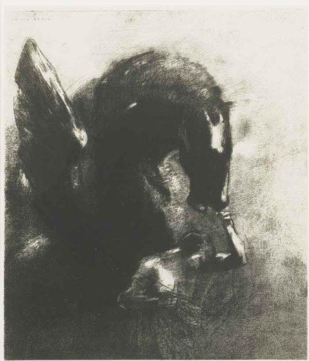 Odilon Redon-Pegase Captif-1889