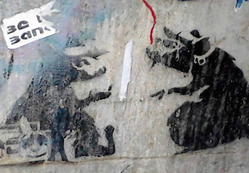 Banksy rat stencils destroyed