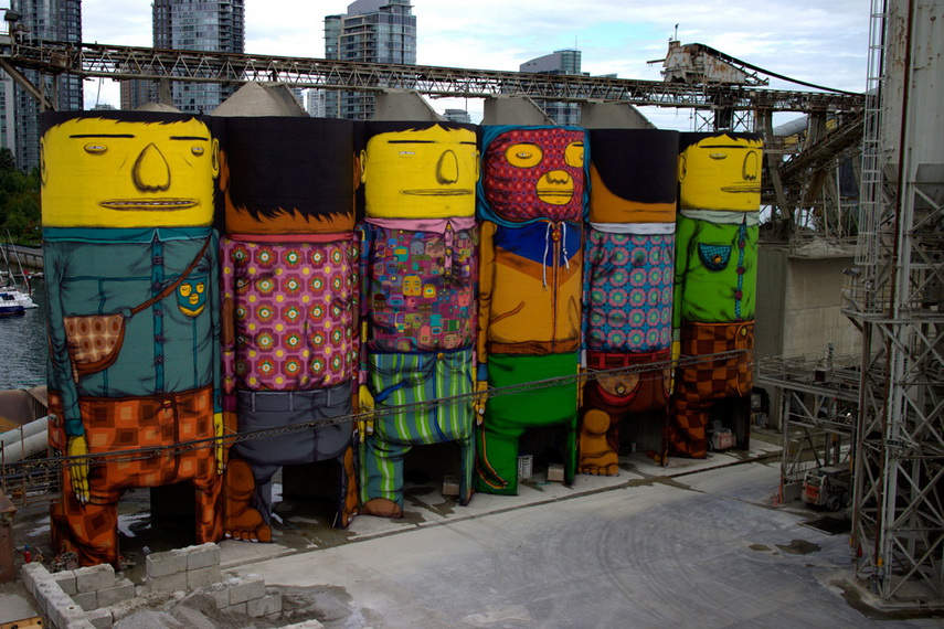 Os Gemeos - Giants - image via animalnewyork