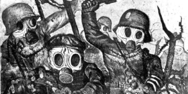 Otto Dix - Stormtroopers Advancing Under Gas (detail) - etching and aquatint - 1924