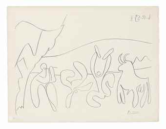 Pablo Picasso-Bacchanal II-1959
