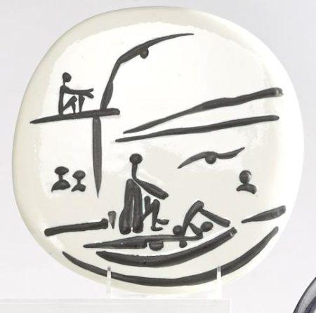 Pablo Picasso-Beach scene-1956