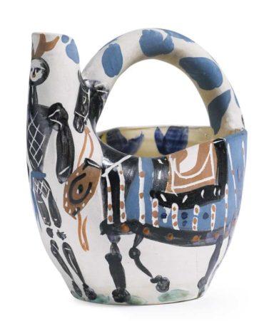 Pablo Picasso-Cavalier Et Cheval (A. R. 138)-1952