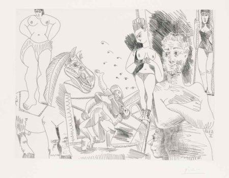 Pablo Picasso-Cirque Et Catch-1968