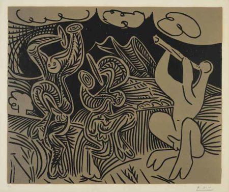 Pablo Picasso-Danseurs et Musicien-1959